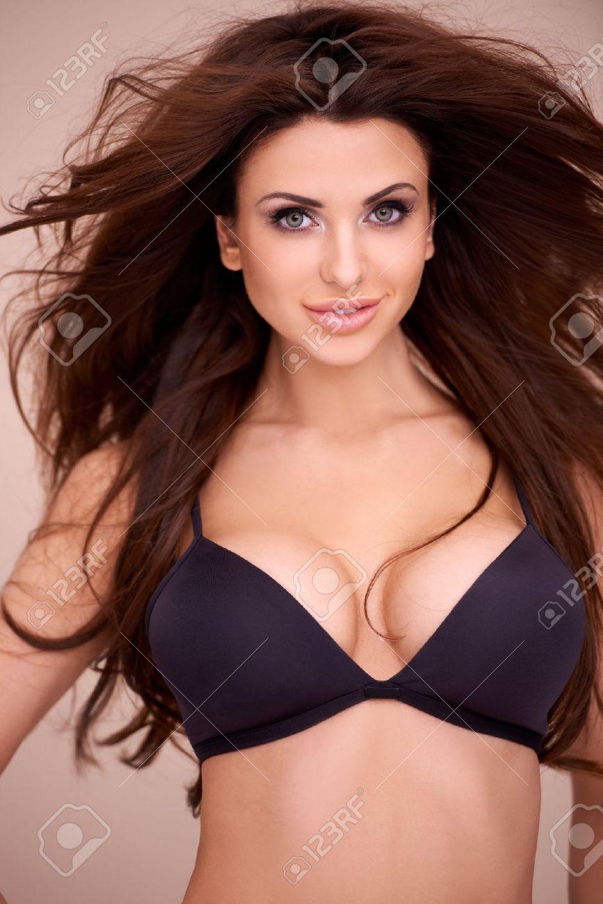 Busty Brunette Lesbian Strapon