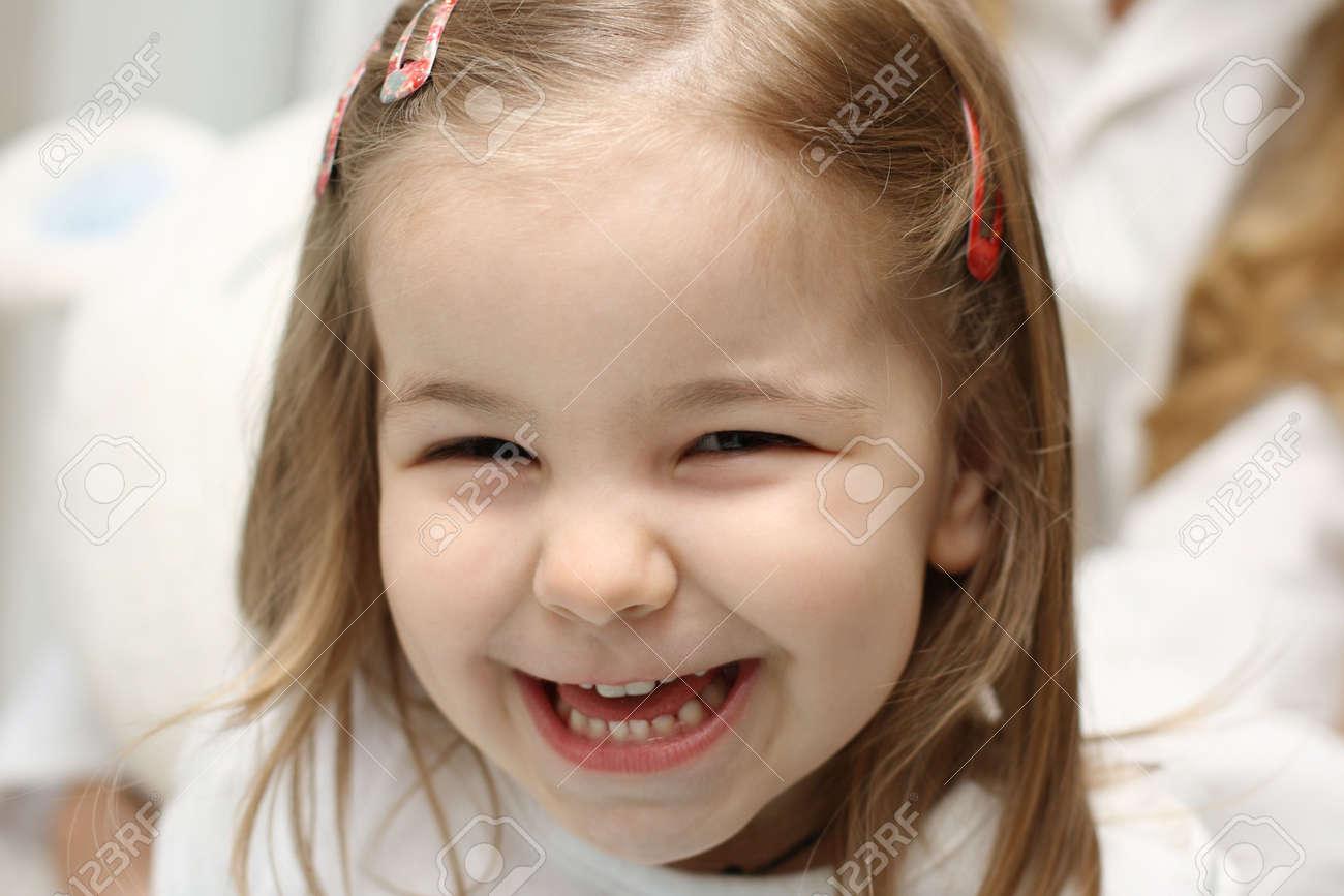 A cute little girl having fun Stock Photo - 6058833