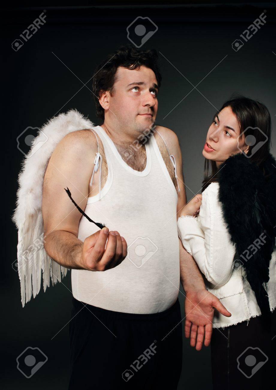 Mr. Angel and Mrs. Angel. Stock Photo - 9529935
