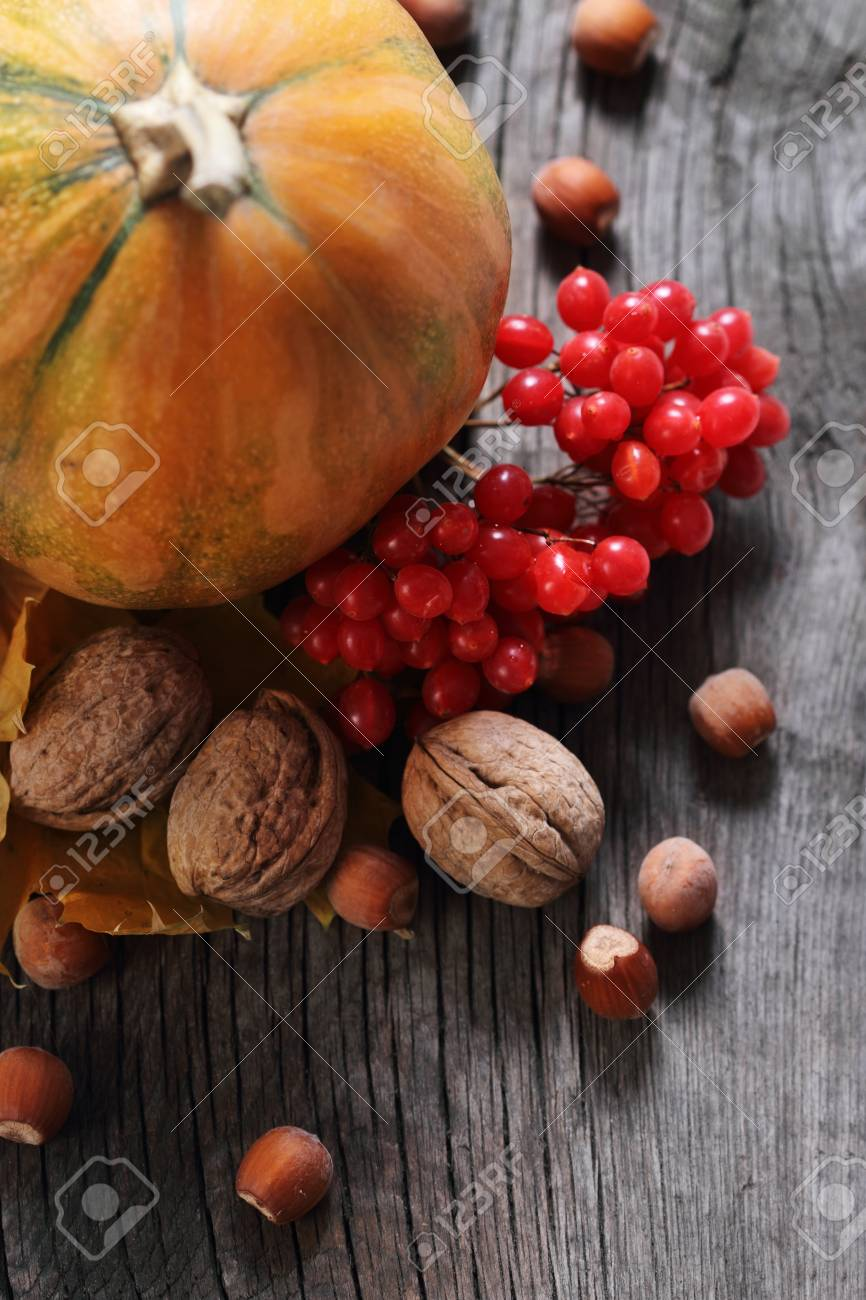 Autumn still life with pumpkin in rustic style Stock Photo - 10195097