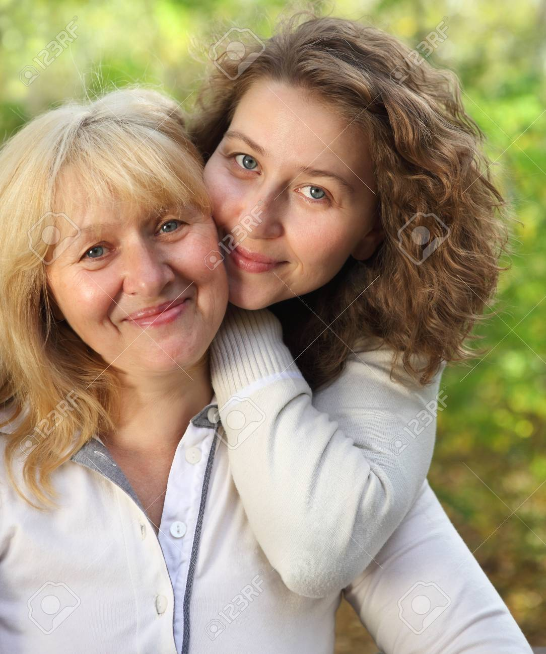 Middle age woman with her daughter outdoors Stock Photo - 16606179
