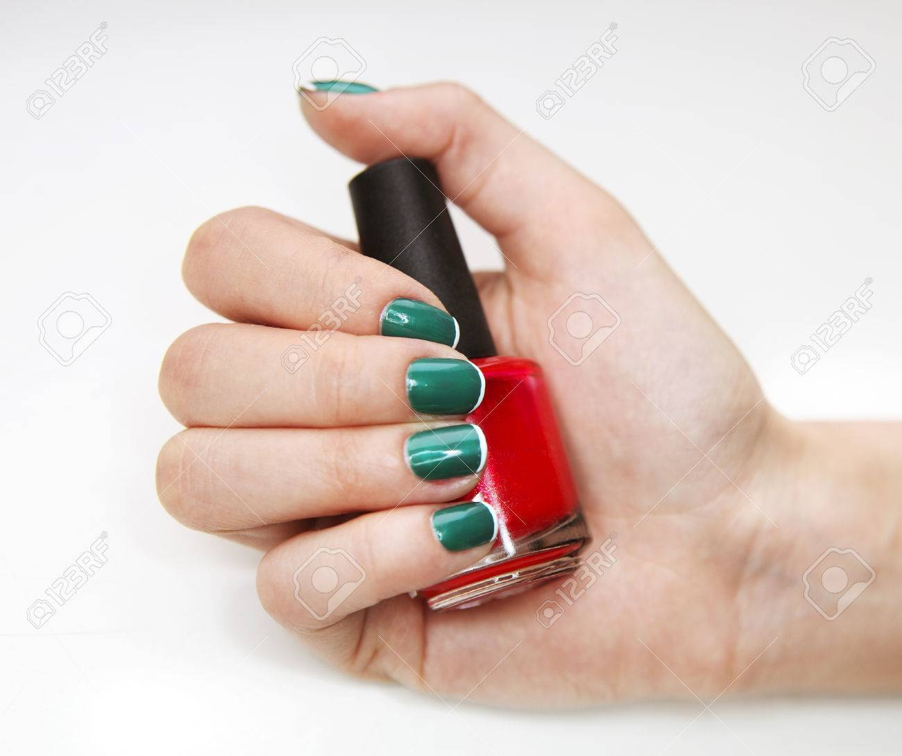 Manicure. Beauty Treatment Photo Of Nice Manicured Woman Fingernails ...