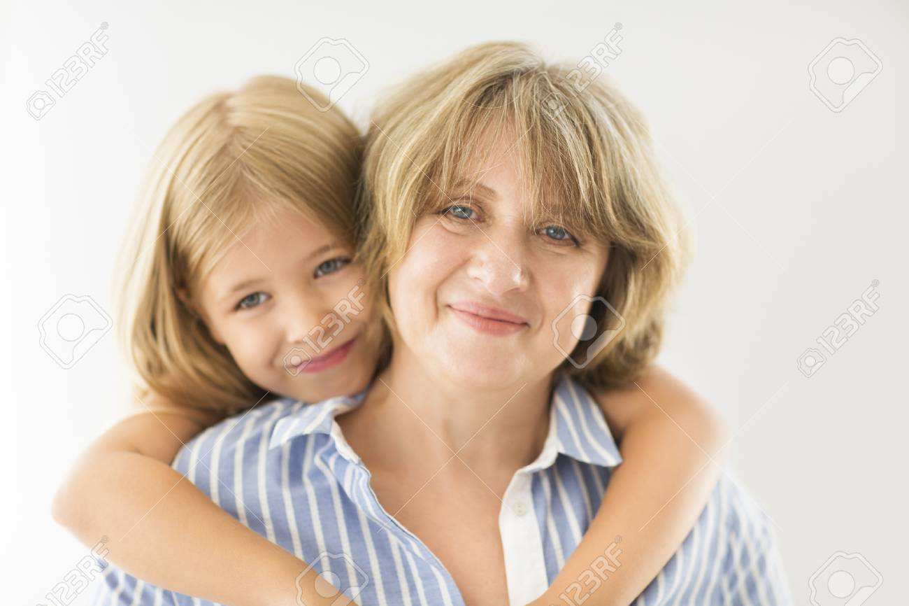 Mature woman and girl