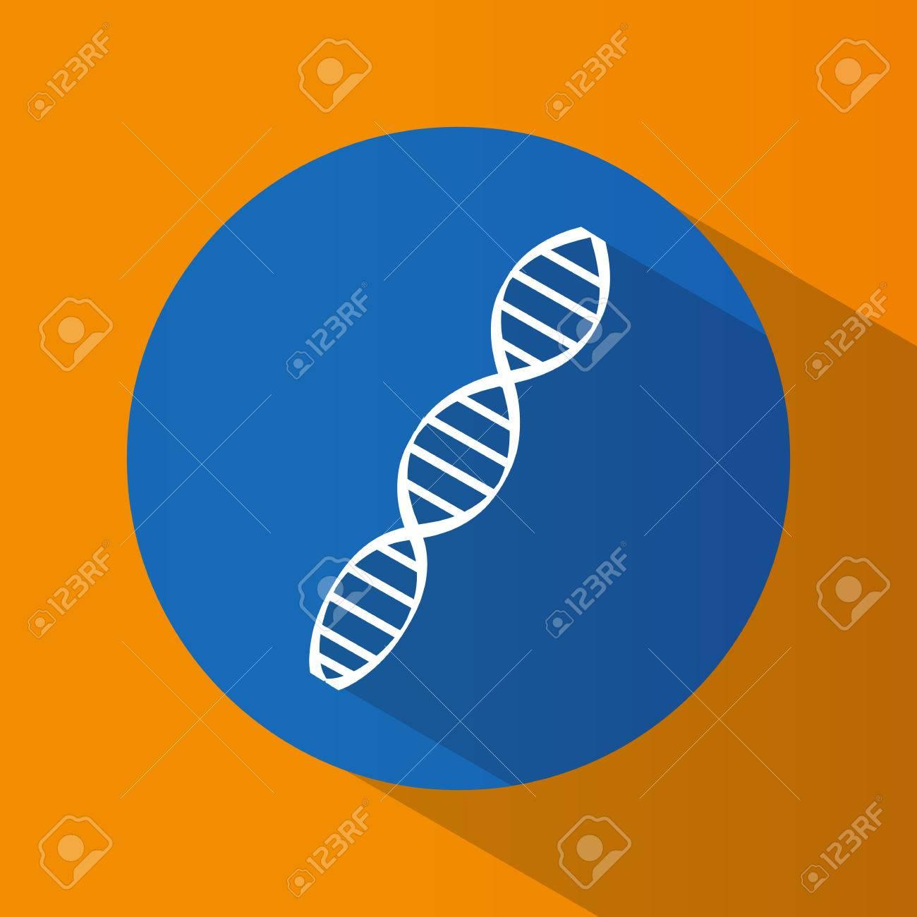 Heredity The Science Genetics Bright Flat Design