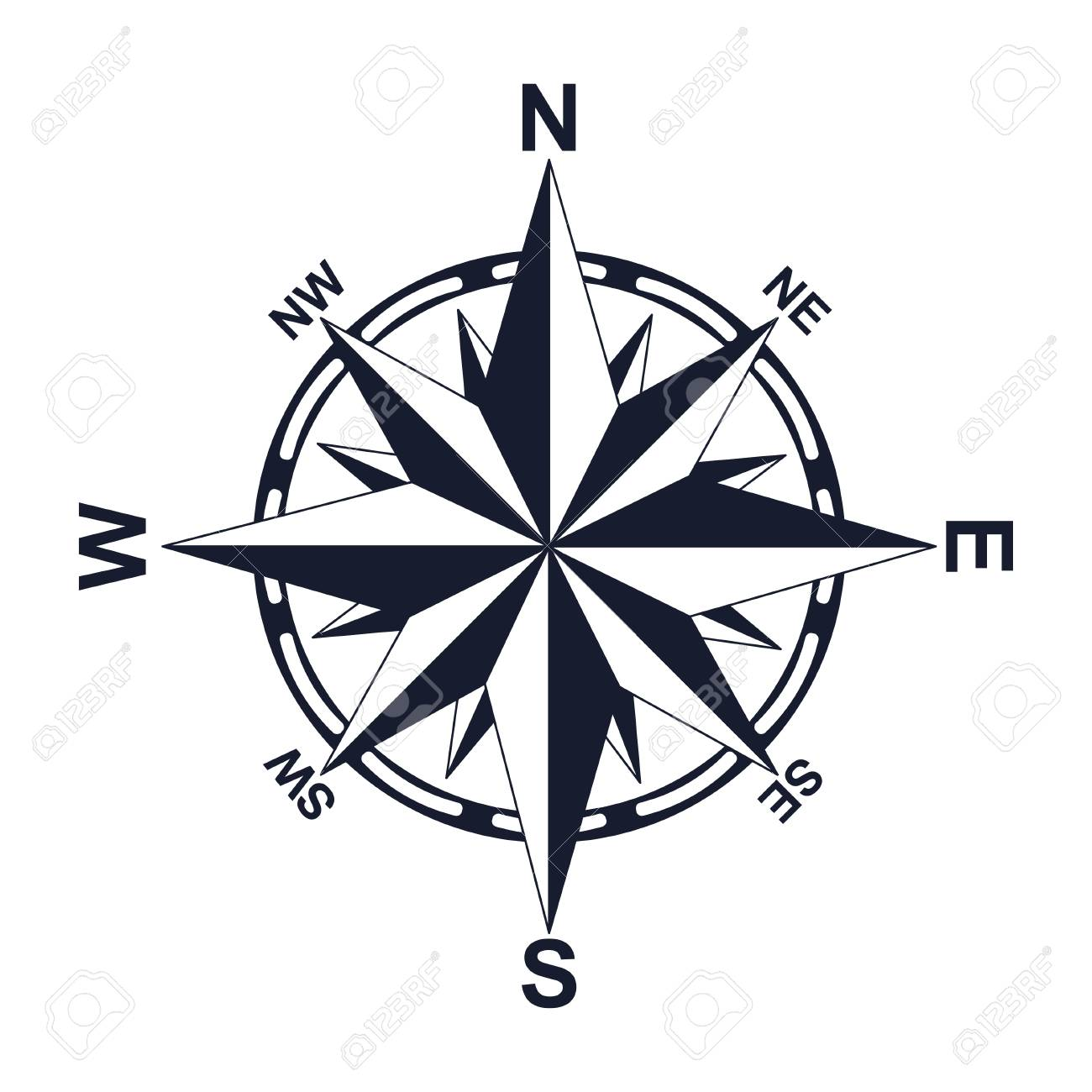 compass direction north west east south for your design icon