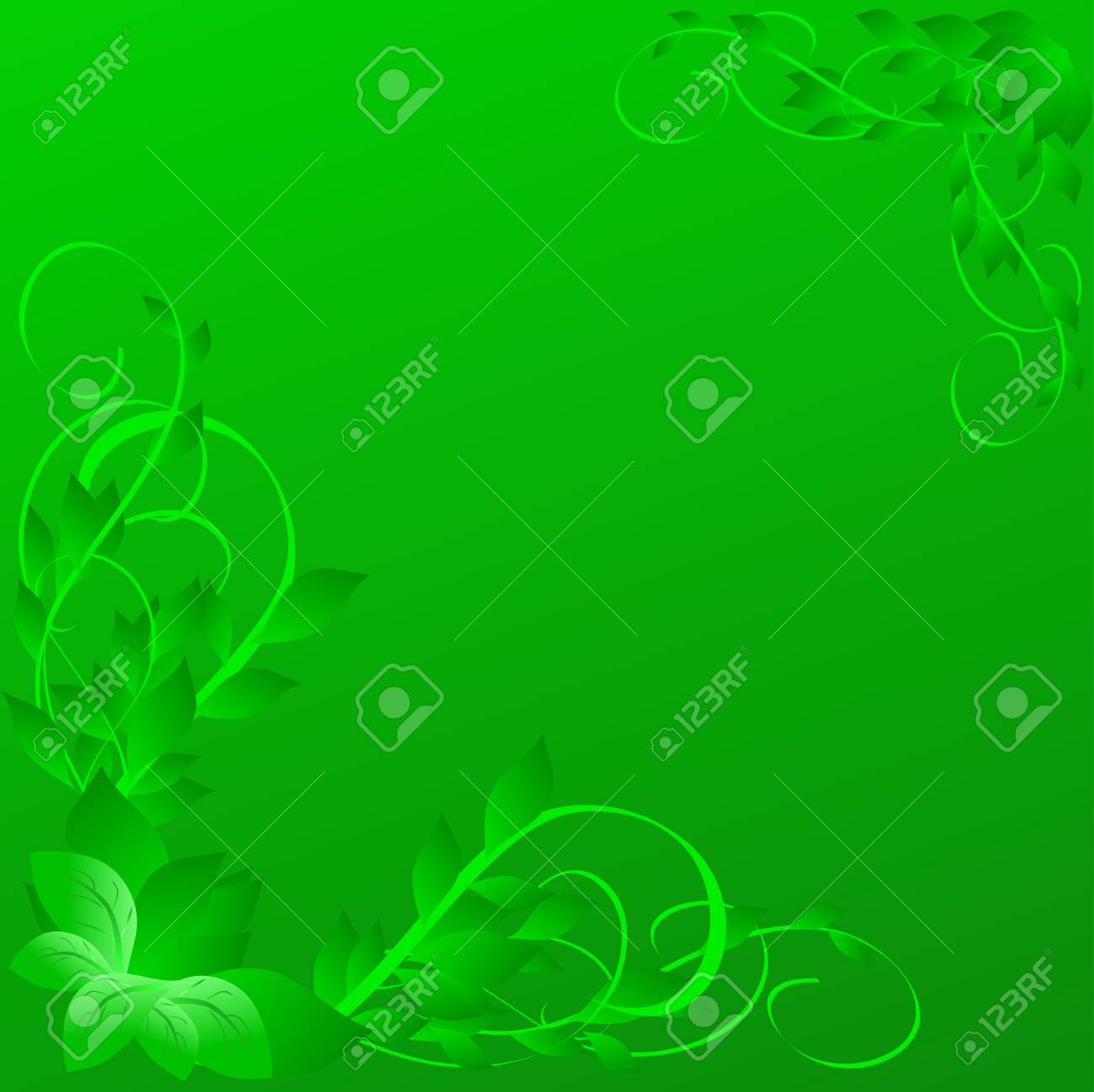 green background from leaf and pattern Stock Photo - 4657801