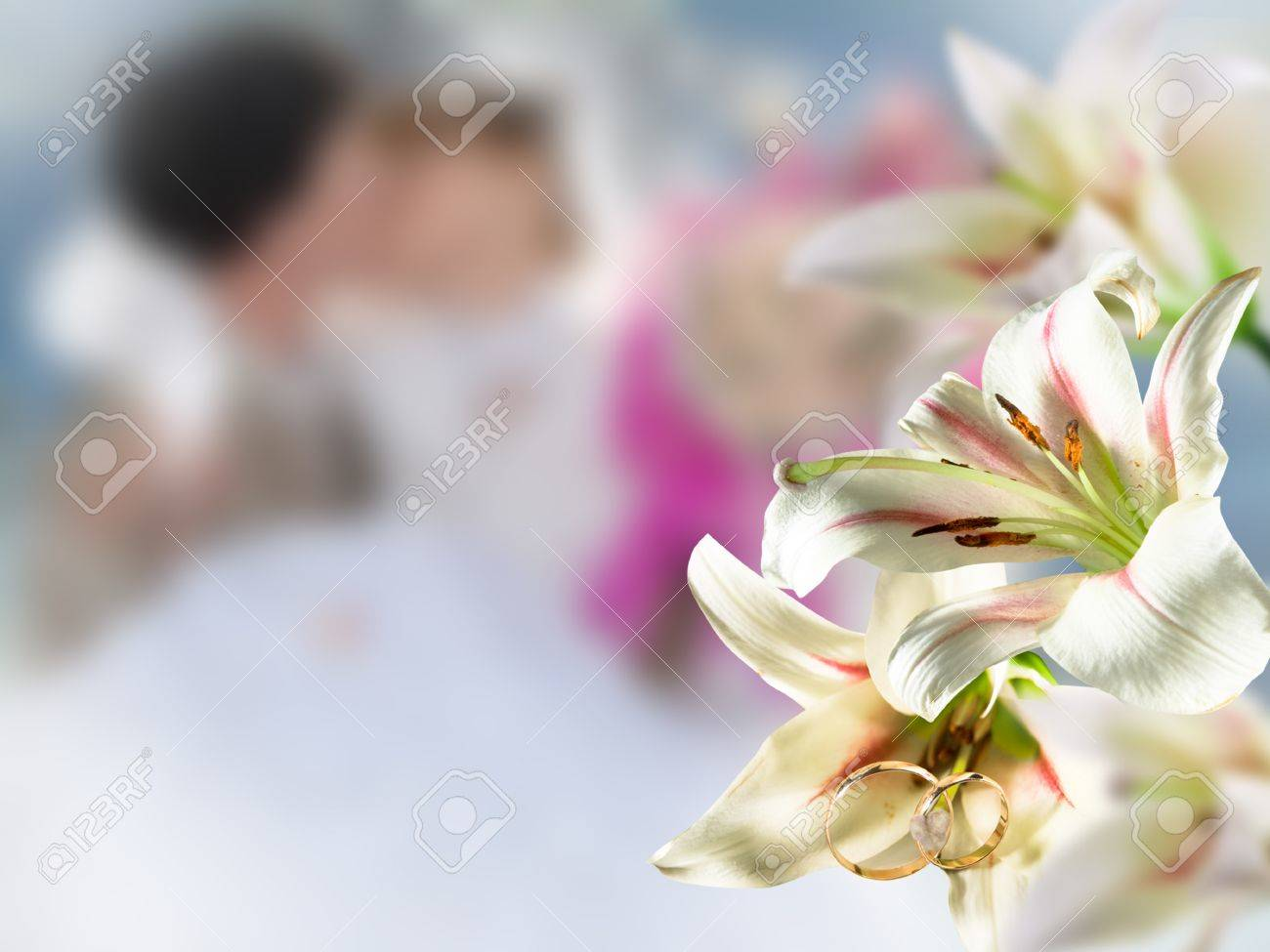 Fleurs de mariage en plein air