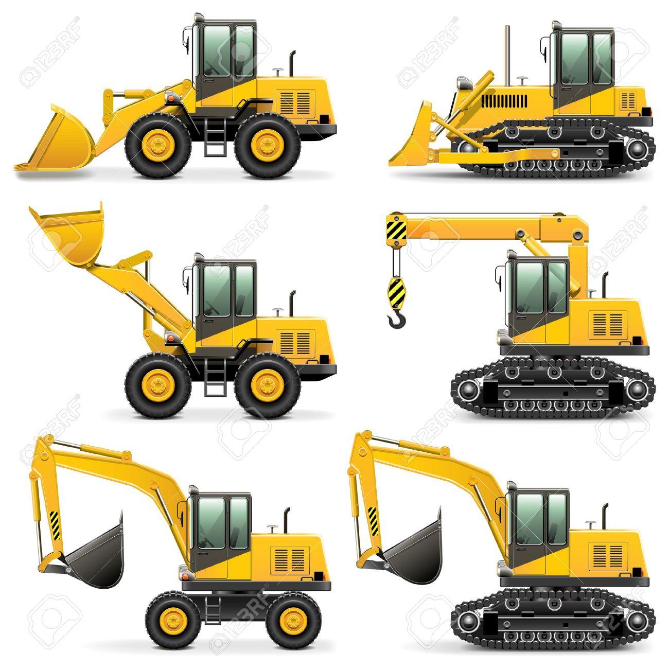 Vector Construction Machines Set 3 Stock Vector - 21869717