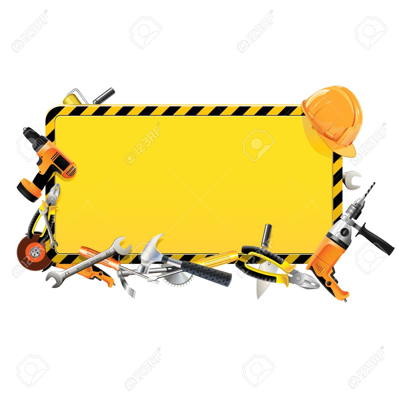 vector vector construction frame with tools