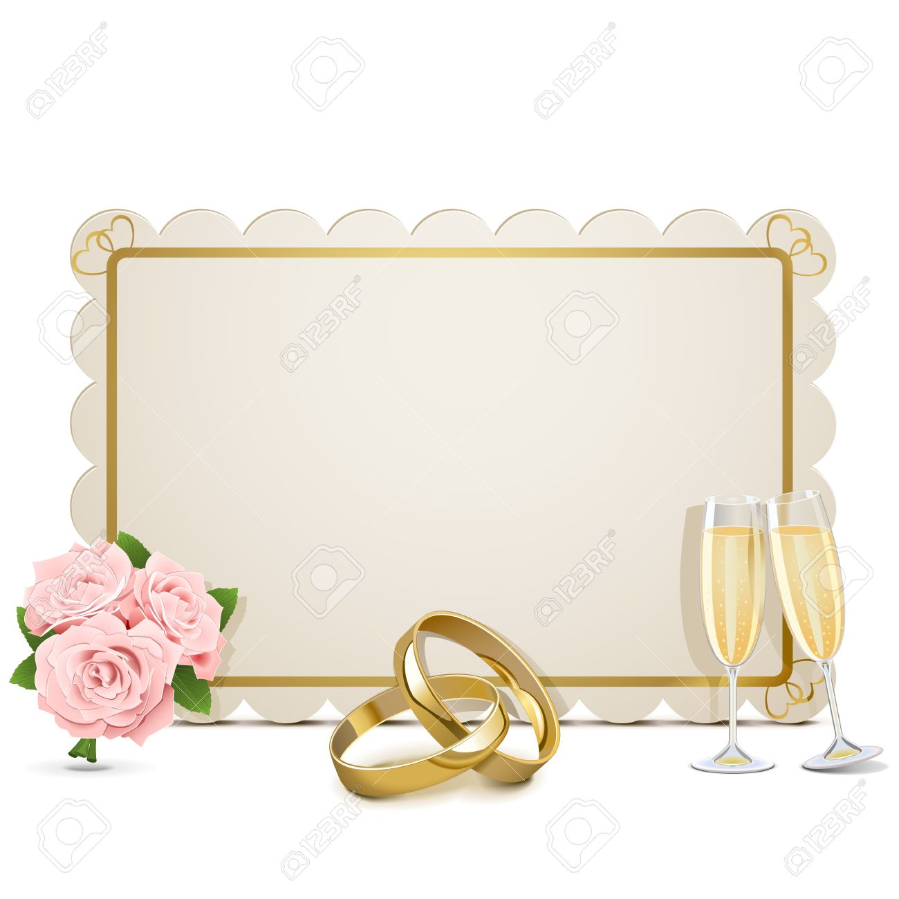 Wedding Frame isolated on white background