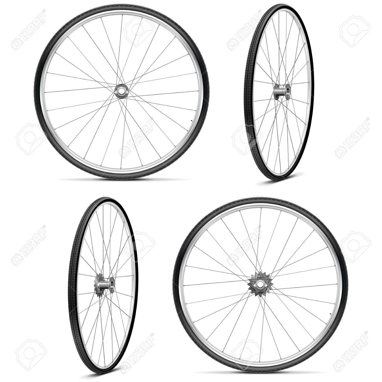 Vector Bicycle Wheels isolated on white background - 38108373