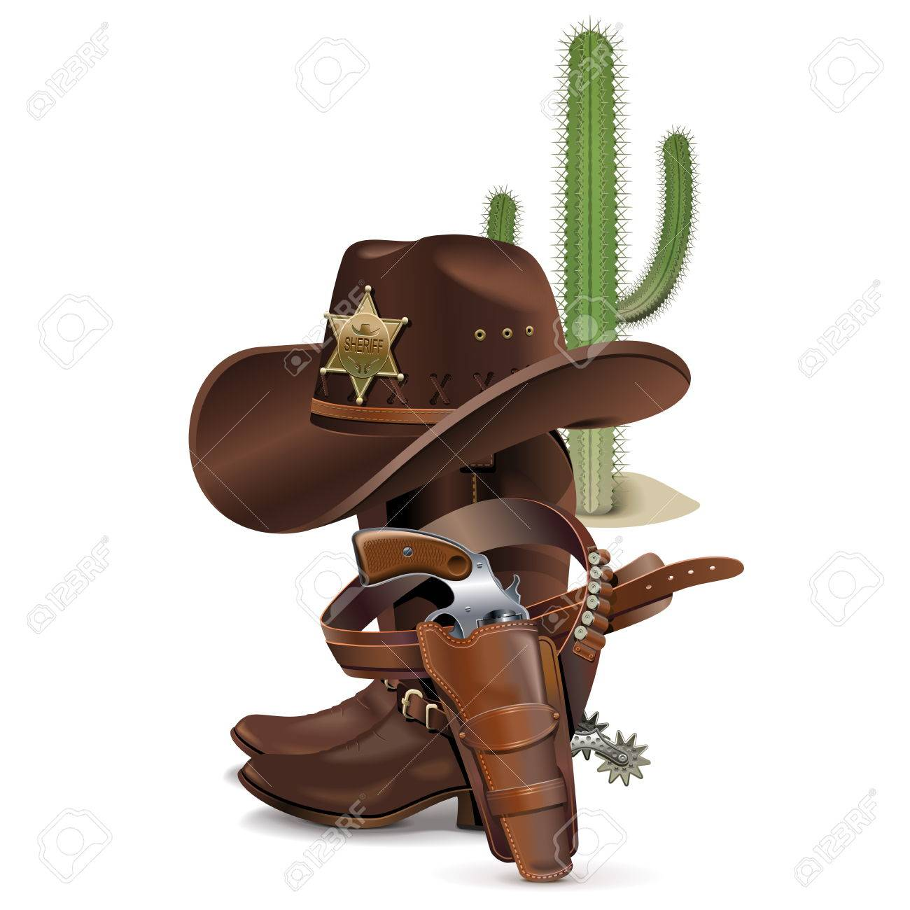 Vector Cowboy Concept isolated on white background - 39371042