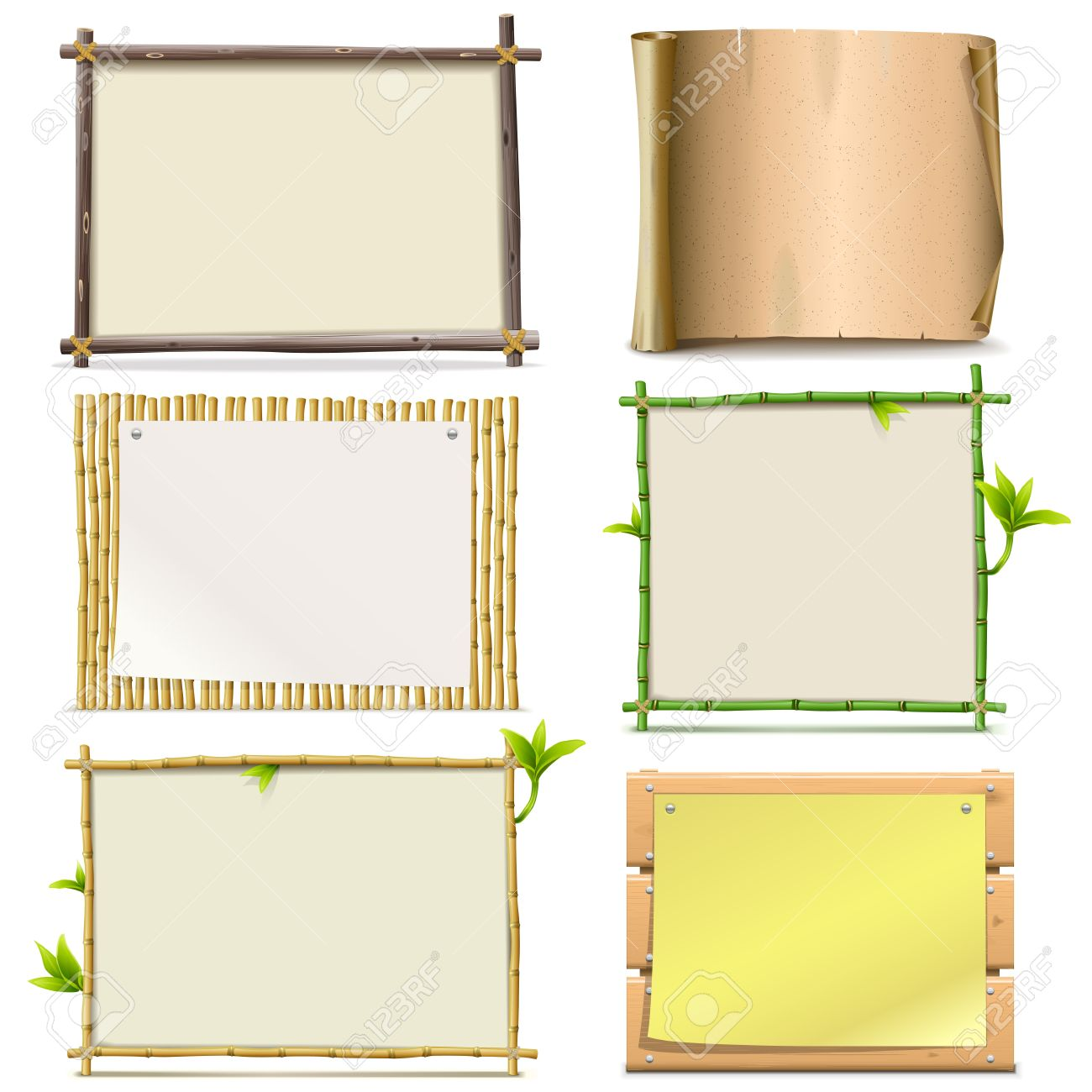 Vector Boards isolated on white background - 42545074