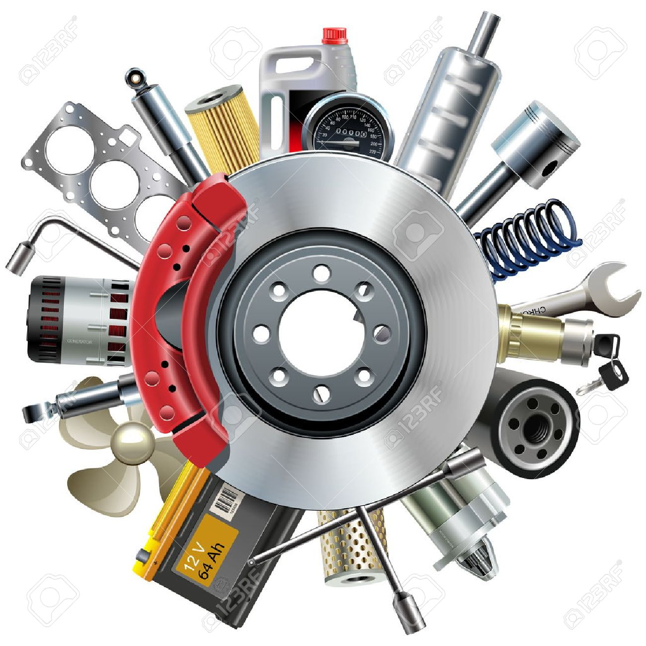 15,904 Auto Parts Cliparts, Stock Vector And Royalty Free Auto Parts ...