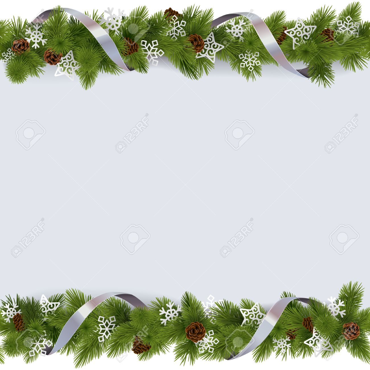 68 060 Christmas Garland Cliparts Stock Vector And Royalty Free