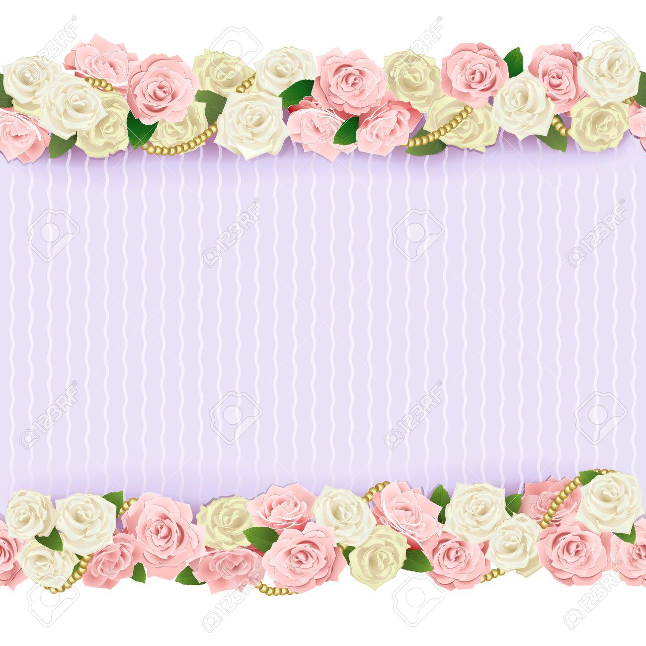 Vector Wedding Flower Frame Isolated On White Background Royalty