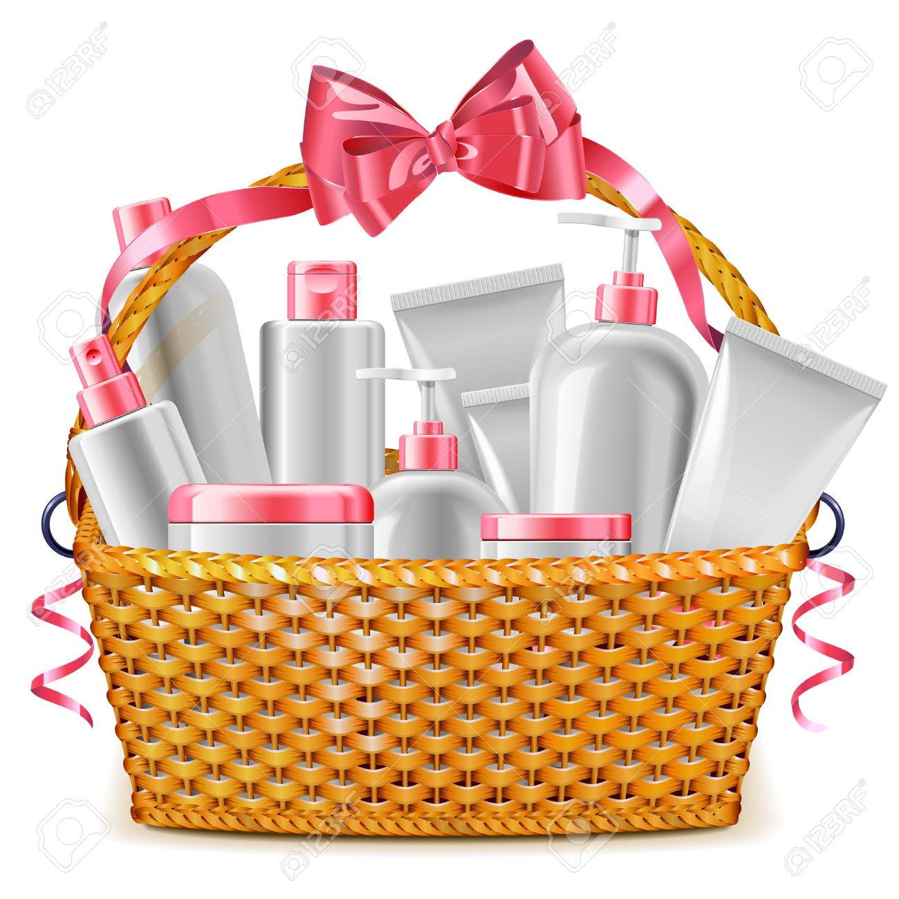28001 gift basket cliparts stock vector and royalty free gift vector gift basket with cosmetics isolated on white background illustration negle Choice Image