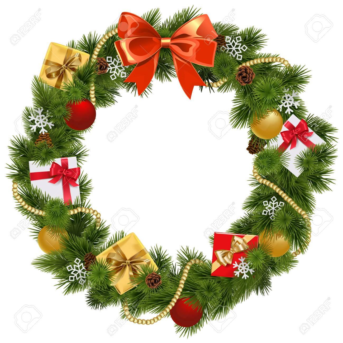 41,363 Christmas Wreath Stock Illustrations, Cliparts And Royalty ...