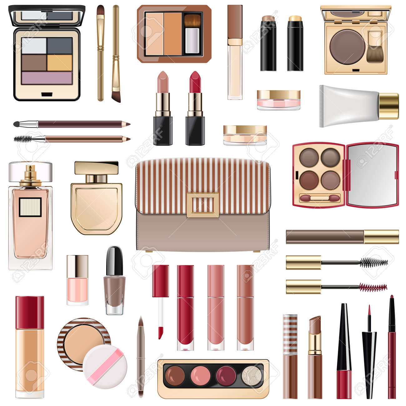 Vector Fall Makeup Collection isolated on white background - 155711608