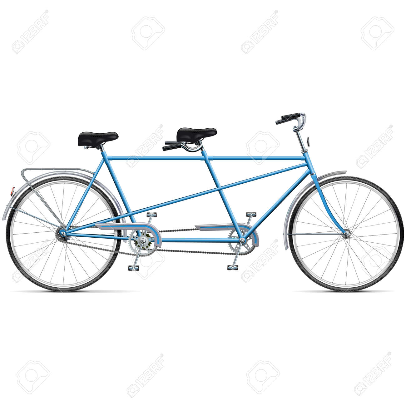 Vector Bicycle Tandem isolated on white background - 157102132