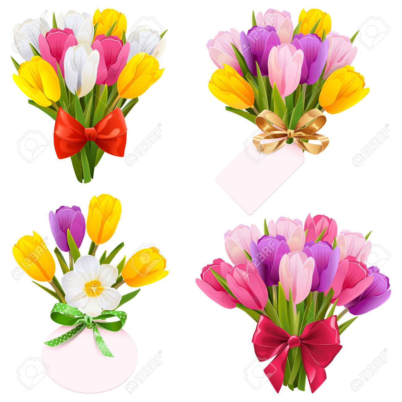Tulip Bouquet Icons - 168703218
