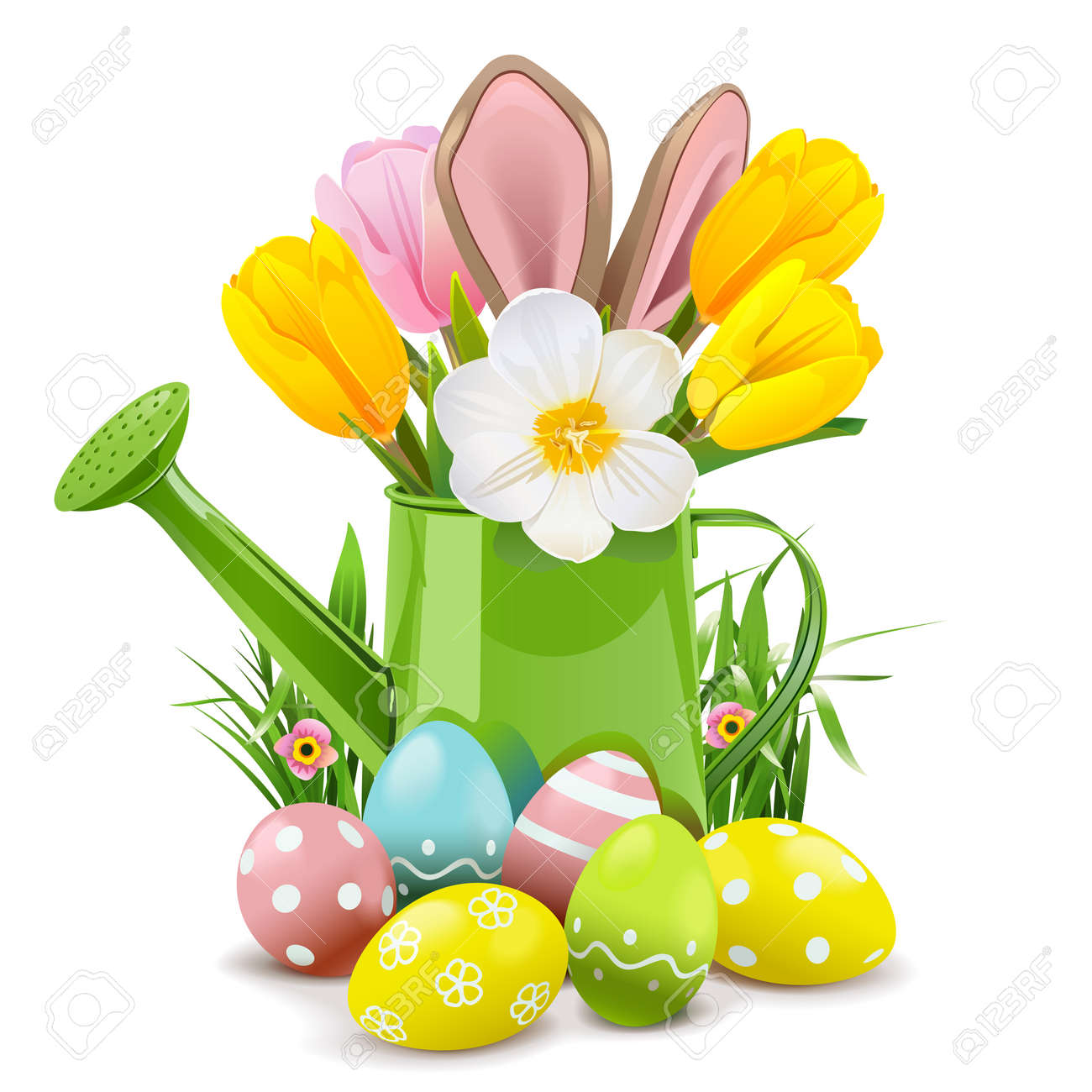 Easter Watering Can with Rabbit - 168703215
