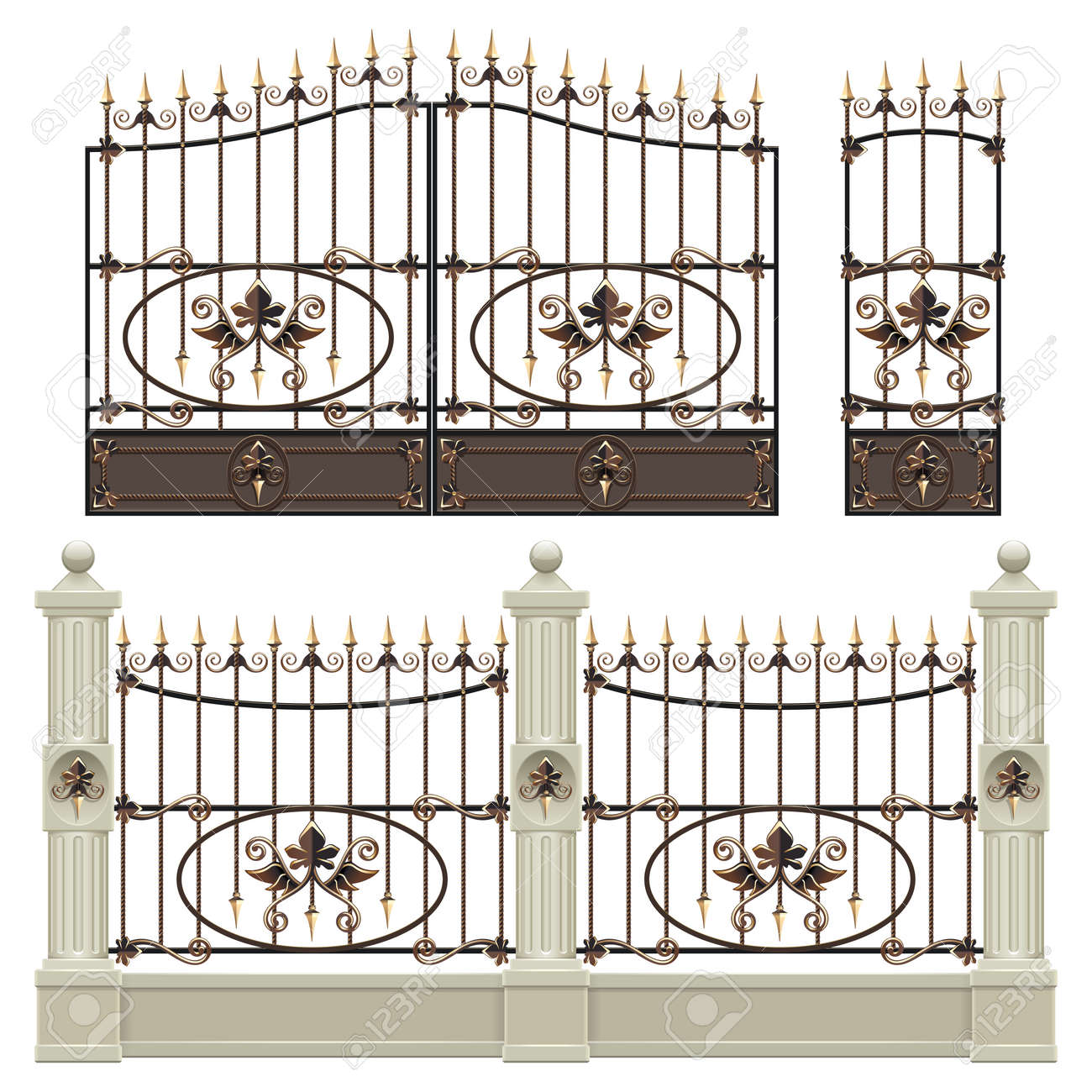 Palace Gate with Fence - 169453759