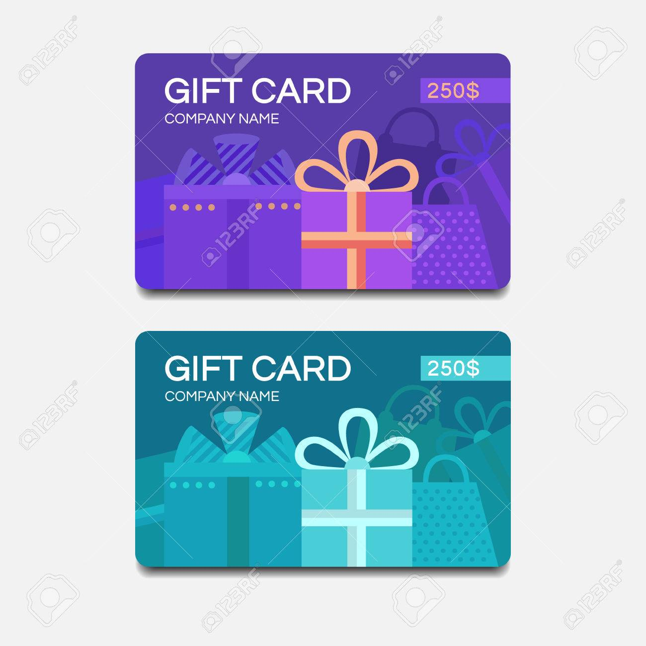 gift card template vector template for design gift voucher
