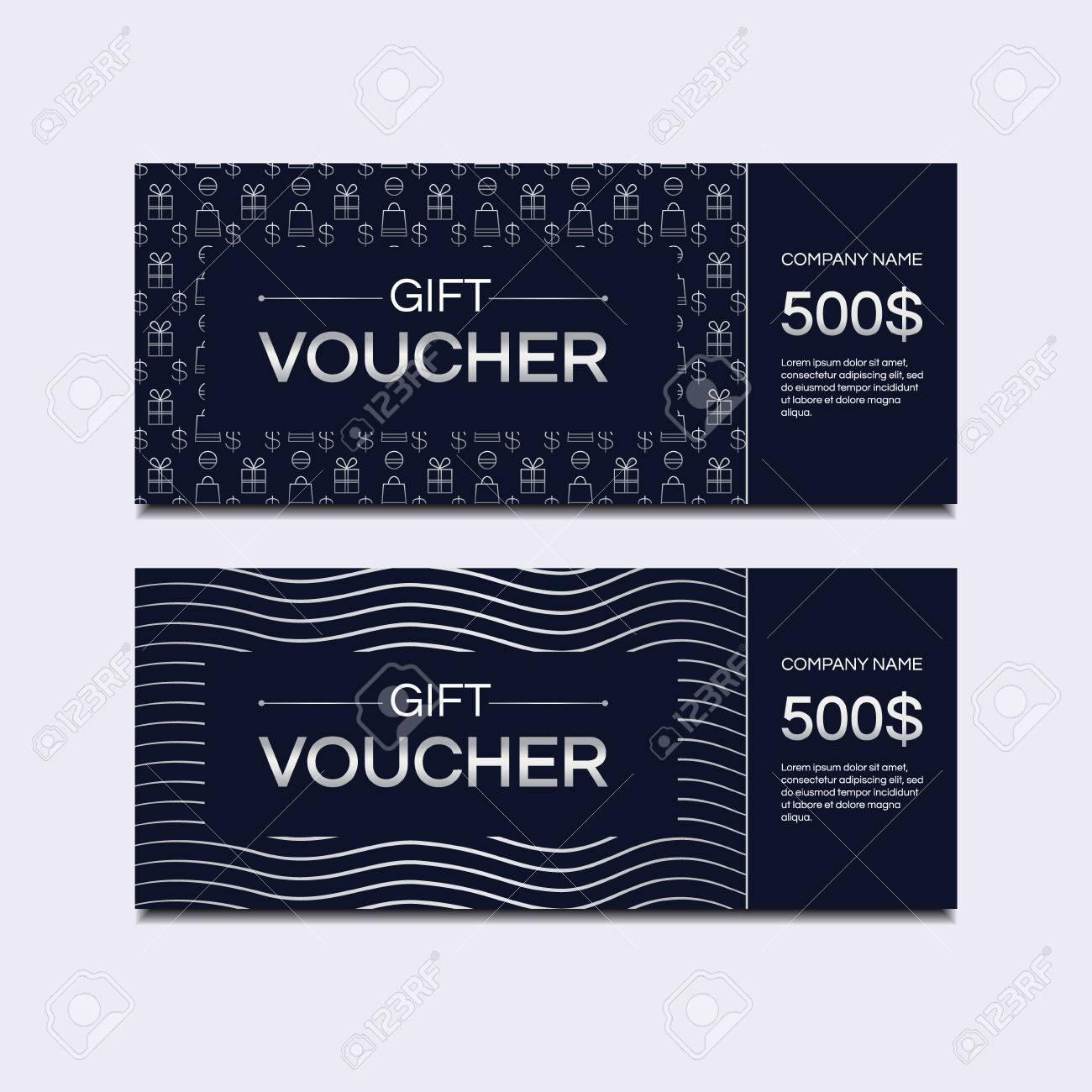 template gift voucher vector template for design gift card
