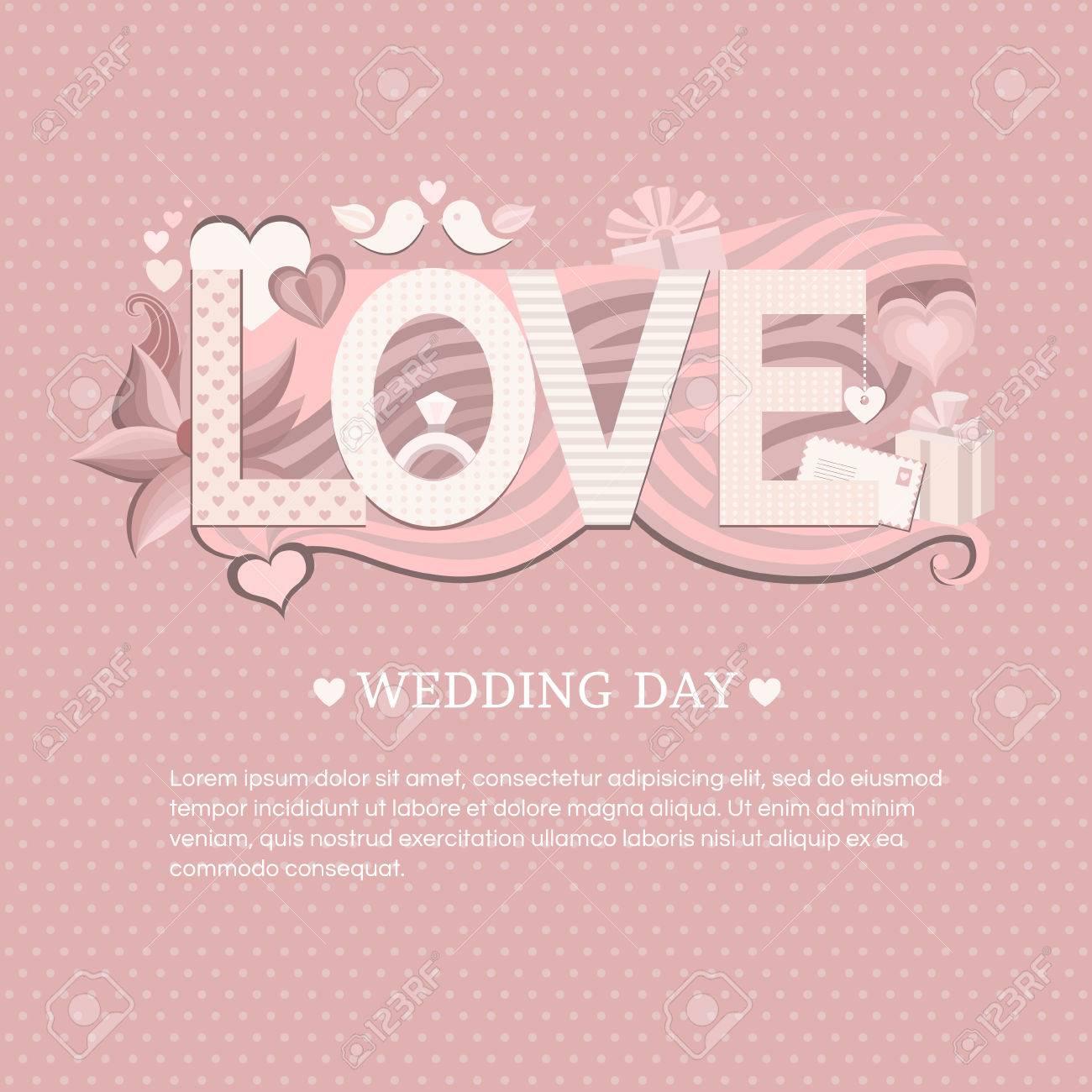 Banner wedding day wedding invitation card save the date card wedding invitation card save the date card stock vector stopboris Image collections