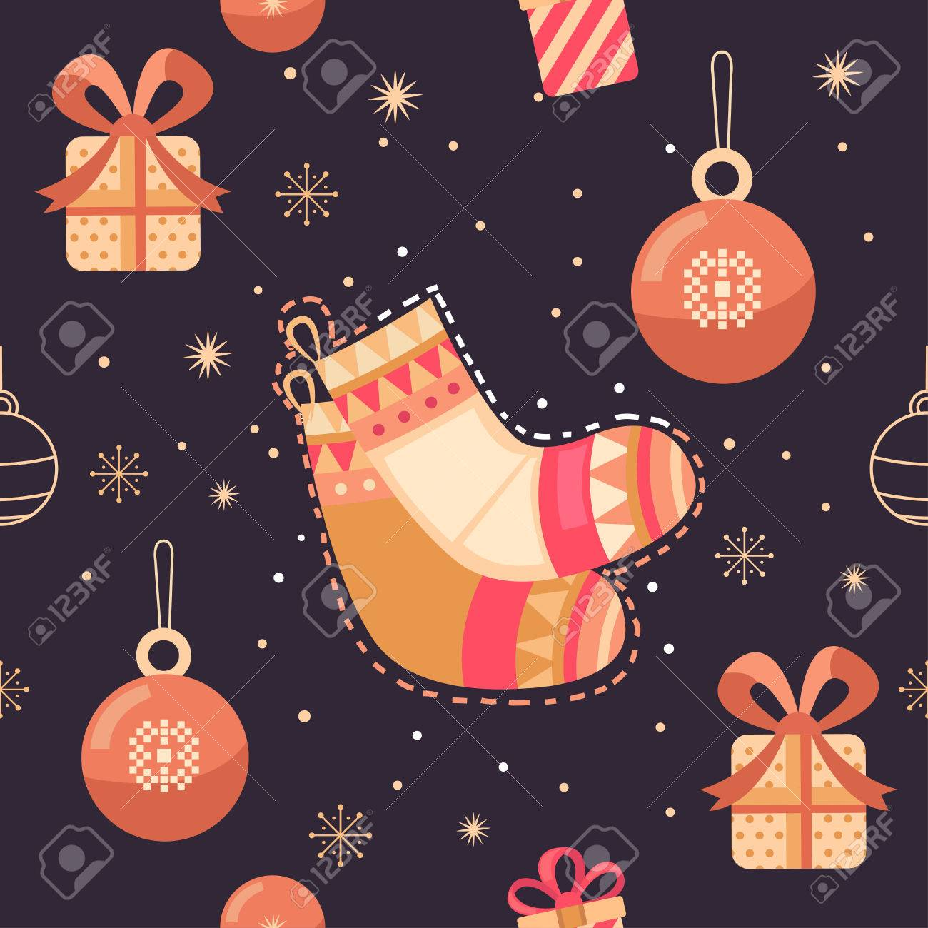 cute christmas backgrounds for flyers merry christmas vector seamless pattern with gifts socks christmas