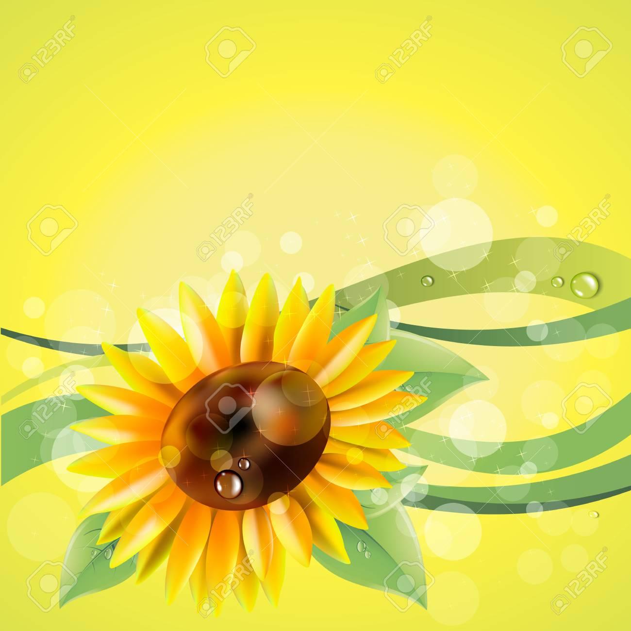 花黄色夏庭ひまわりイラストのイラスト素材ベクタ Image 73745814