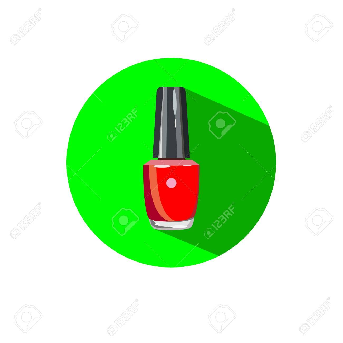 Salón De Uñas Logo. Esmalte De Uñas - Un Símbolo De Manicura. Señal ...