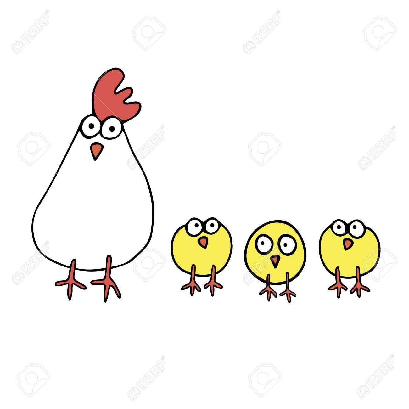 鶏ベクトル編漫画イラストかわいい鶏白グラデーション文字幸せ
