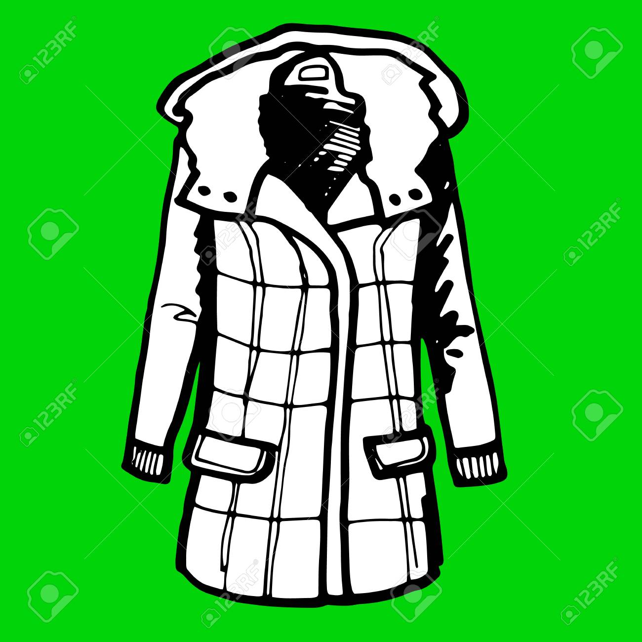 Jacket, Vector, Fashion, Clothing, Winter, Design, Sport, Clothes ...