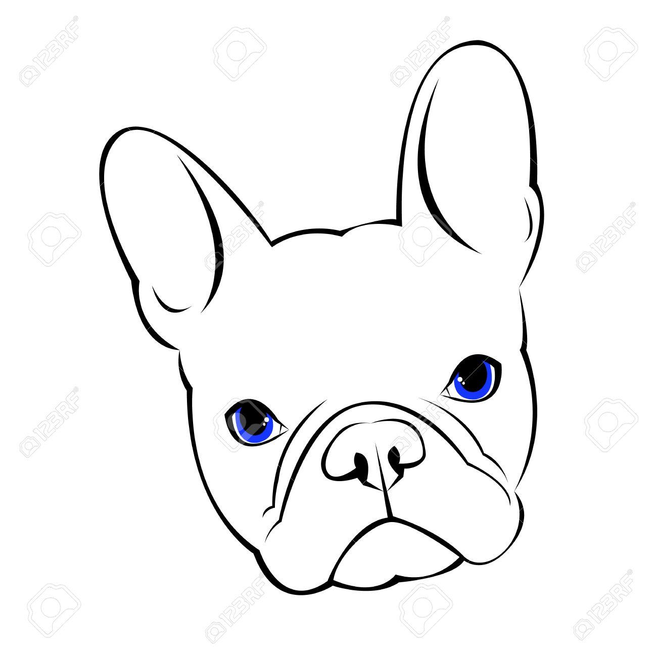 Bulldog Dog Animal French Vector Illustration Pet Breed