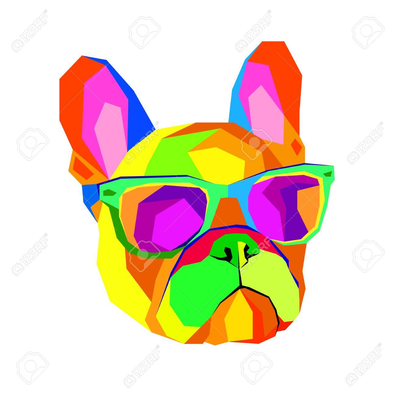 Bulldog Français Imprimer Sur Les Vêtements Chiot Mignon Bouledogue Français Fait à La Main