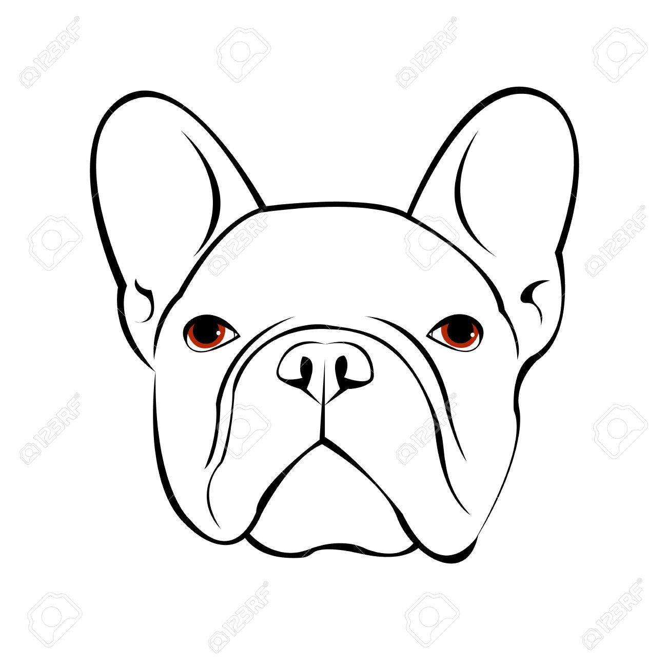 Bulldog Chien Animal Francais Vecteur Illustration Animal Familier Race Mignon Dessin Chiot Clip Art Libres De Droits Vecteurs Et Illustration Image 75361952