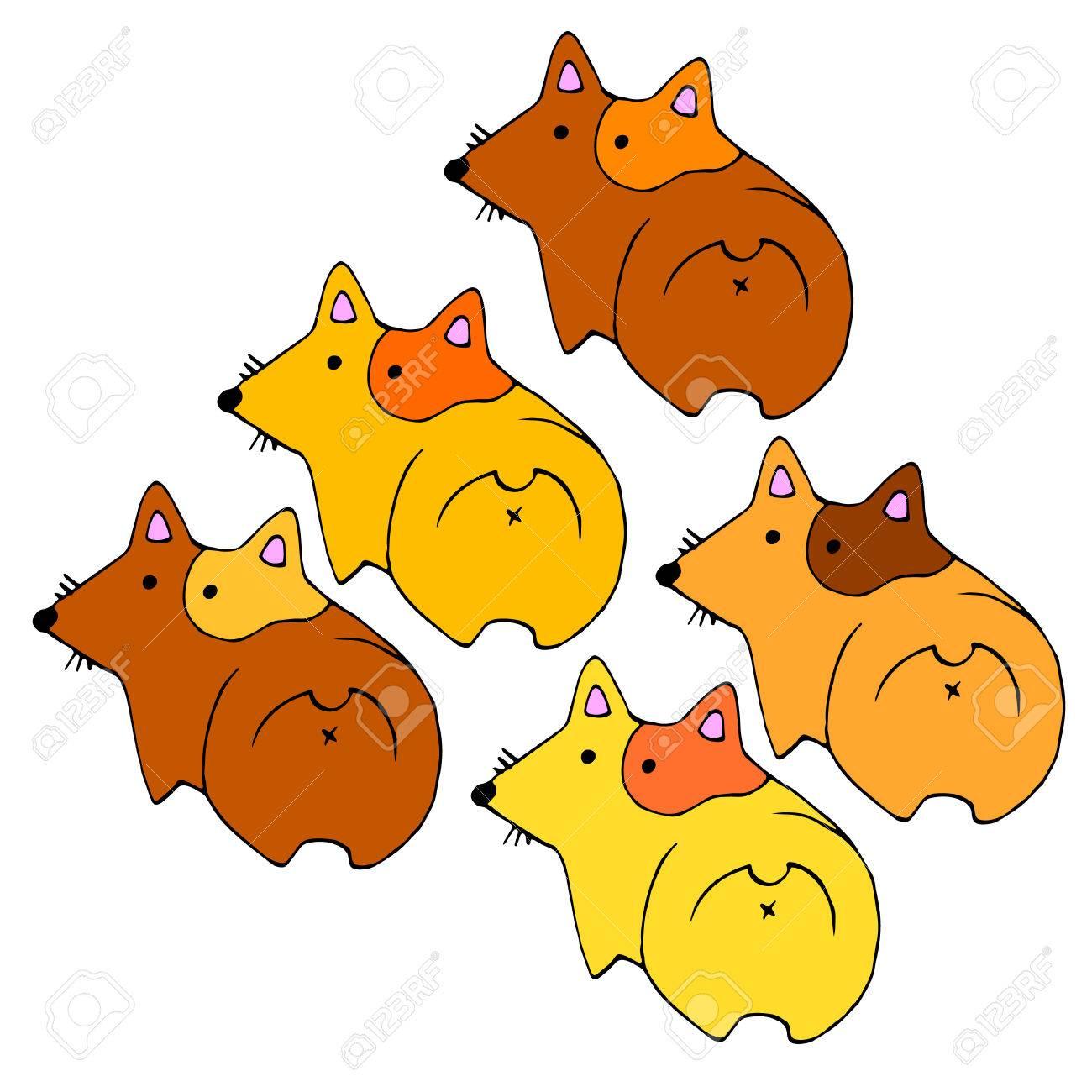 ウェールズ犬動物イラスト ペット耳のベクトル ロイヤリティフリー