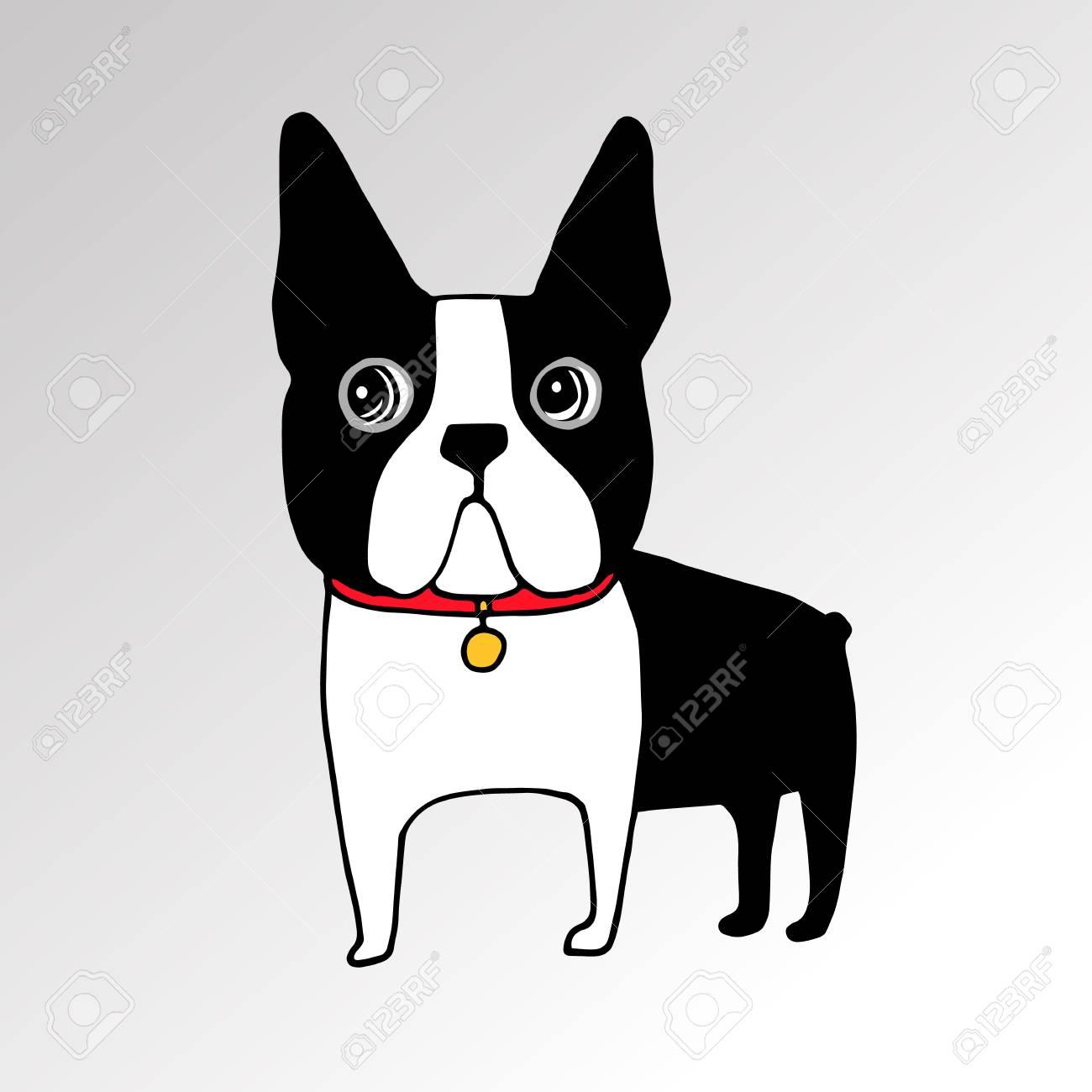 フレンチ ブルドッグ犬はひもにつないできれいな顔耳尻尾の