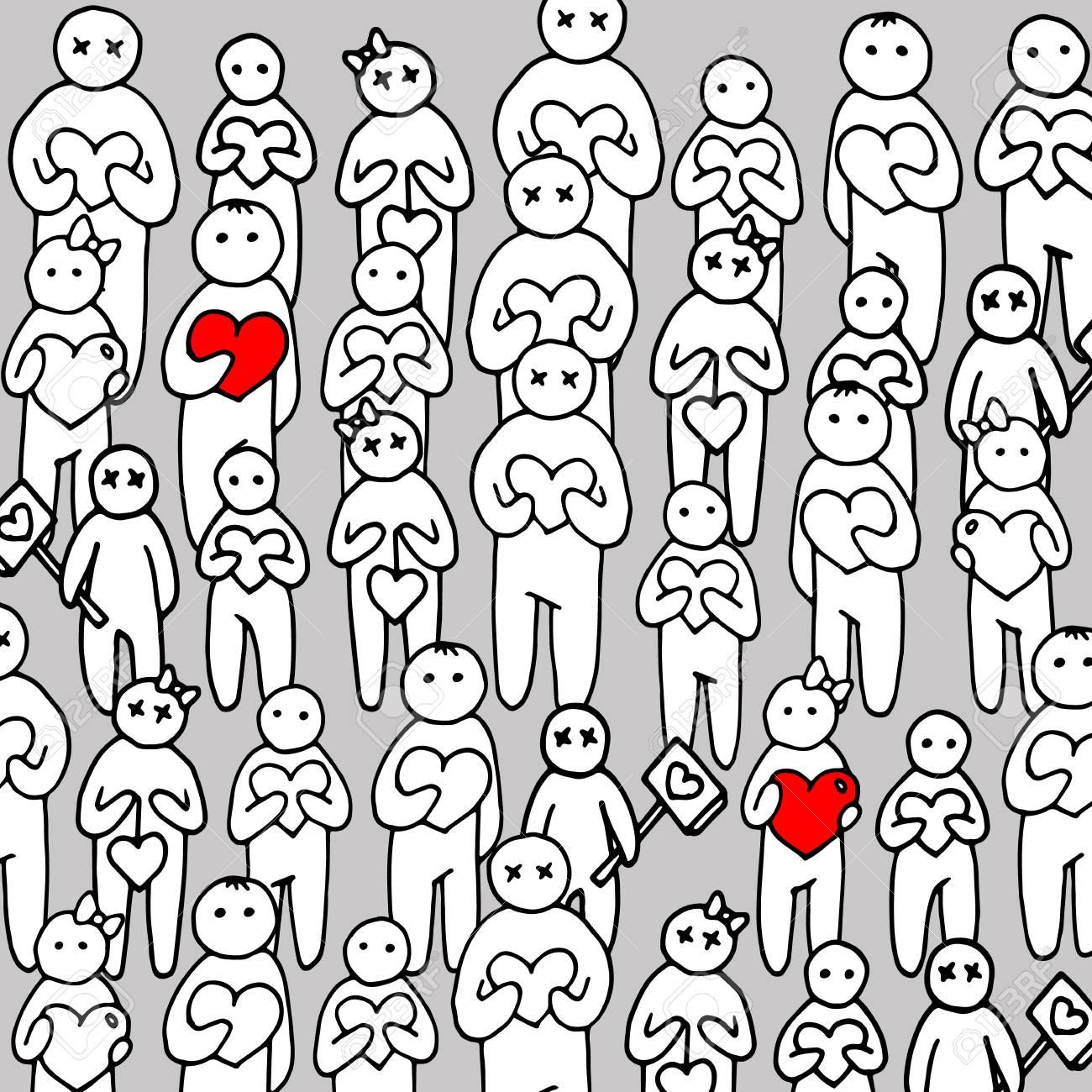 Personnes De Coeur Personne Amour Vector Heureux Famille