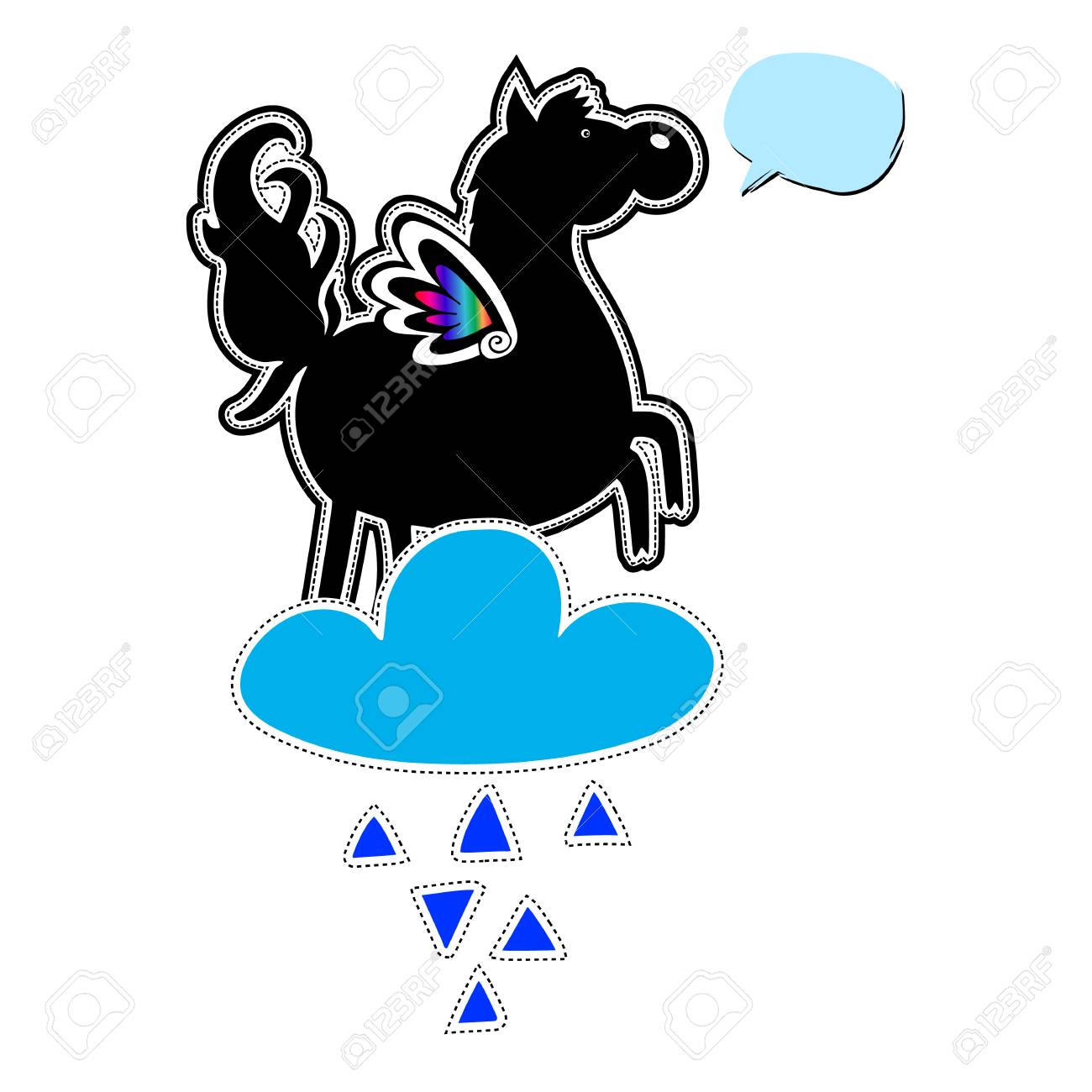 Unicorn Vector Icon Cute Magic Cartoon Fantasy Cute Animal