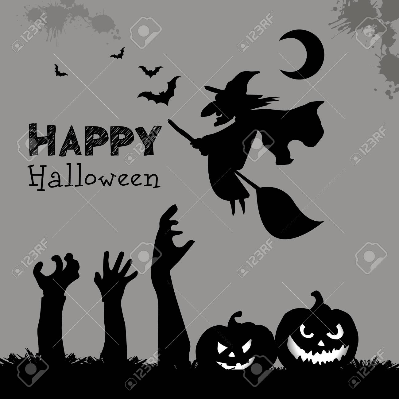 halloween witch hat vector illustration holiday black