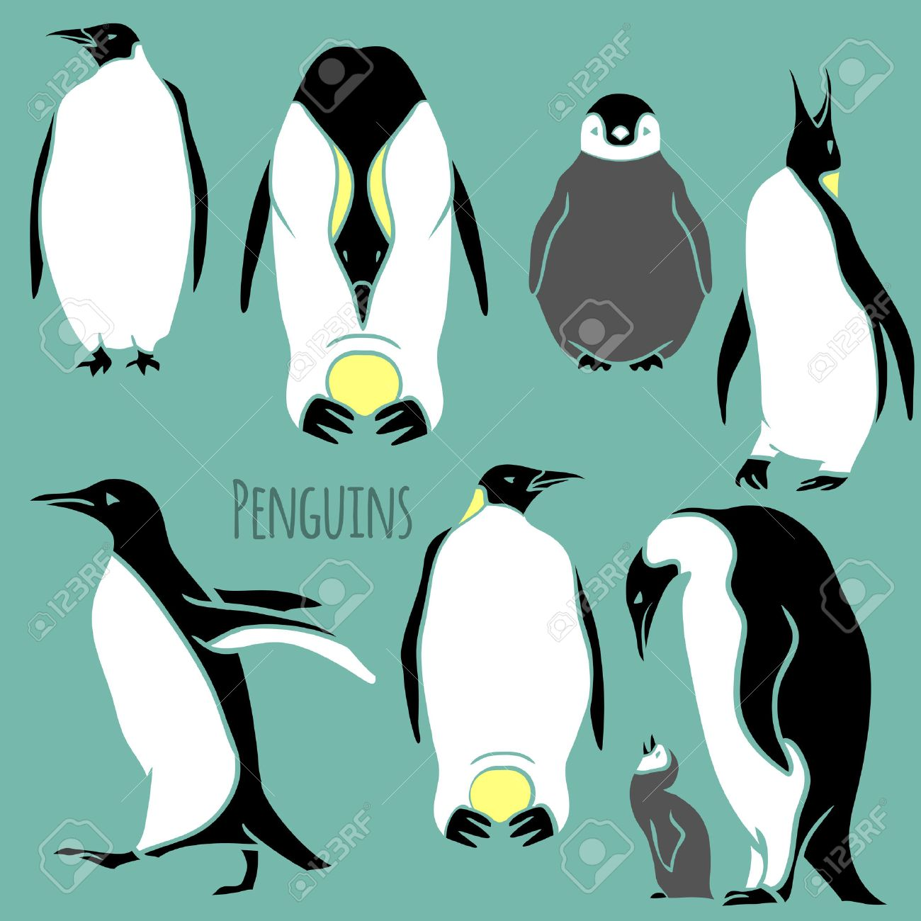 snow penguin vector