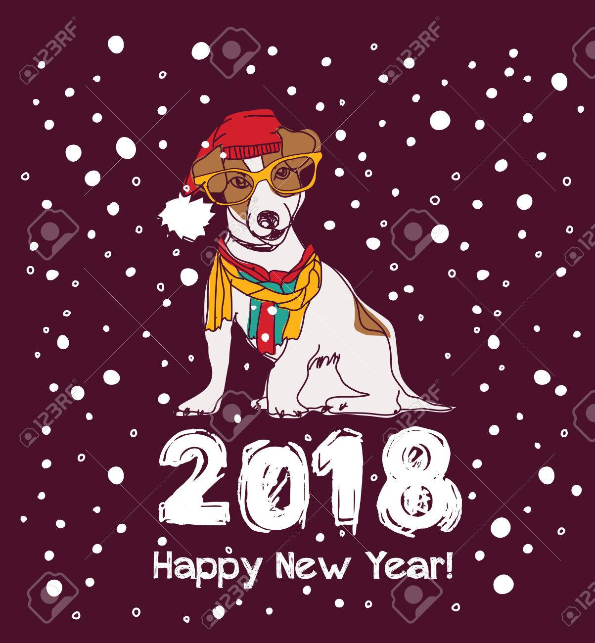 happy new year card 2018