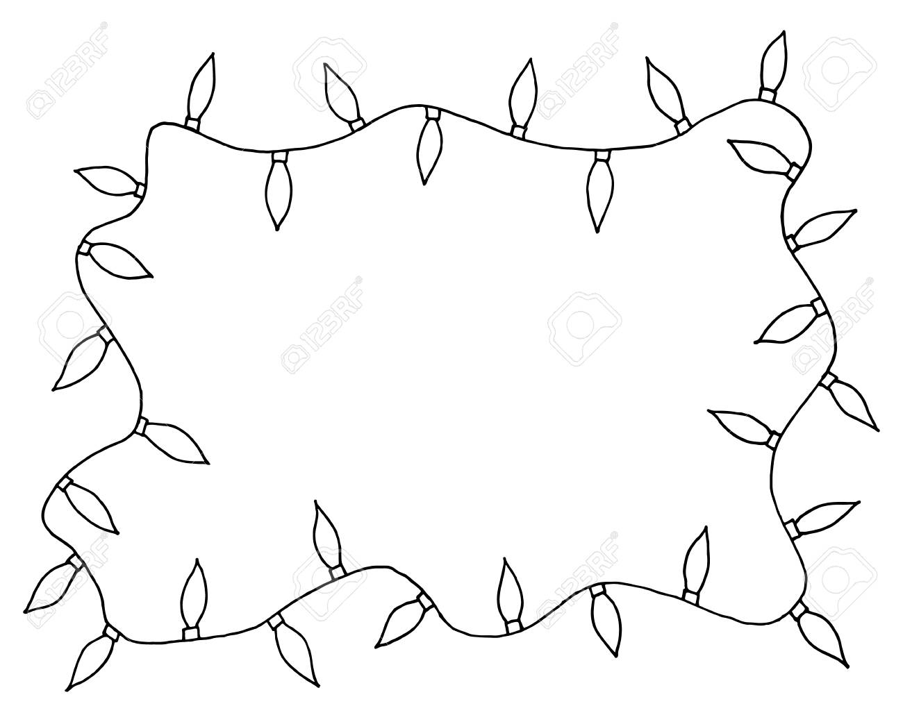 sketchy frames illustration hand drawn festive christmas lights stock photo picture and royalty free image image 93235972 sketchy frames illustration hand drawn festive christmas lights