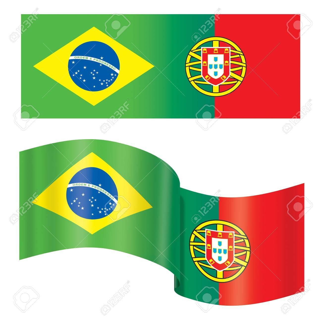 Handmade watercolor brazil flag brasil stock photos freeimages com - Brazil Flag Business Brazil Portugal Flag