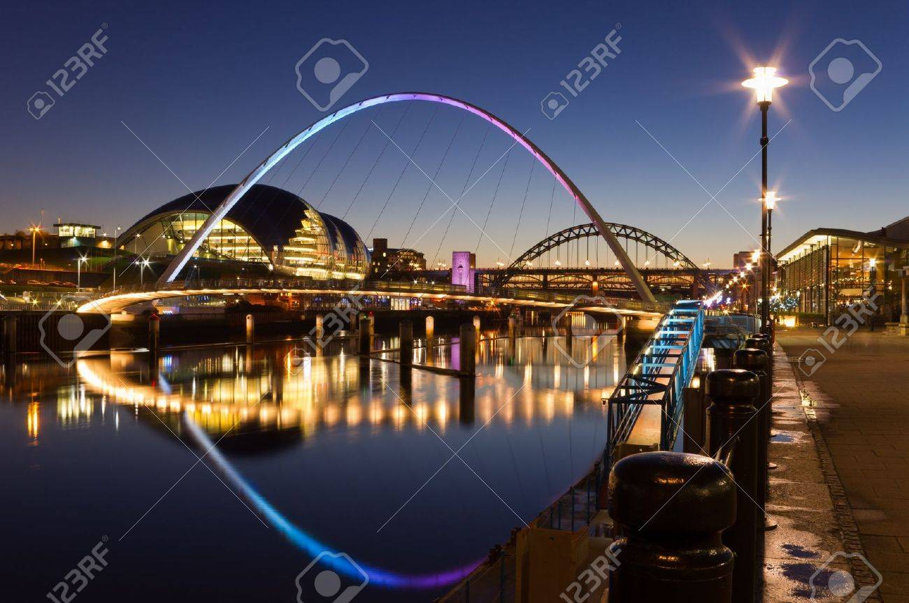 Newcastle quayside at night - 12201451
