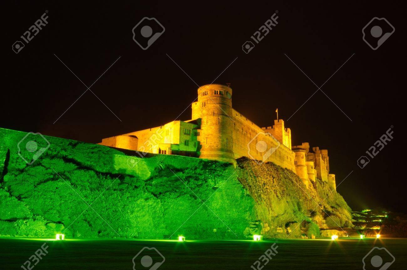 Bamburgh Castle At Night Bamburgh Castle At Night Illuminated
