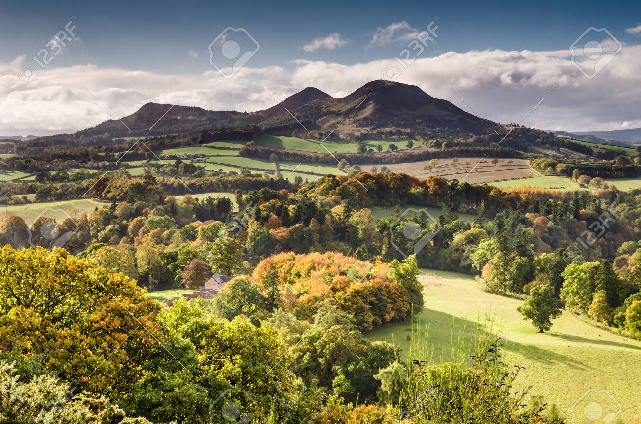 The Eildon Hills in the Scottish Borders was once a lookout point for Iron Age people and Romans - 23842973